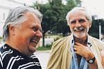 Celoživotní přátelé Hynek Bočan a Jiří Stránský. Točili závažná témata, ale oba milovali humor.