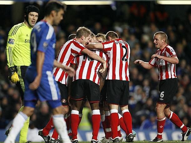 Chelsea doma utrpěla ostudnou porážku 0:3 od Sunderlandu.
