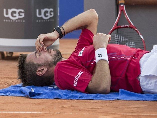 Stanislas Wawrika skrečoval čtvrtfinále turnaje v Gstaadu.