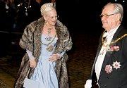Dánský princ Henrik společně se svou chotí, královnou Margrethe
