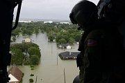 Následky hurikánu Harvey v Houstonu.
