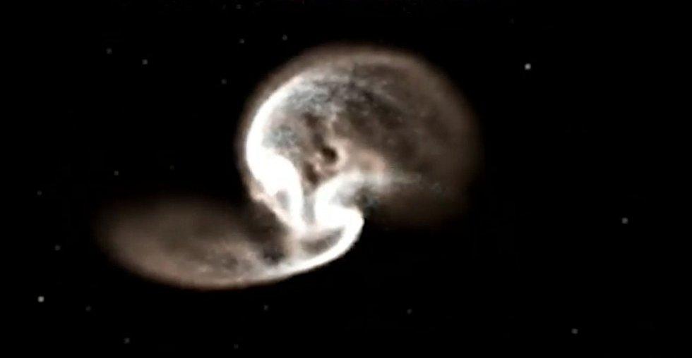 Galaxie jsou lapeny do komplikovaného procesu vzájemného ničení