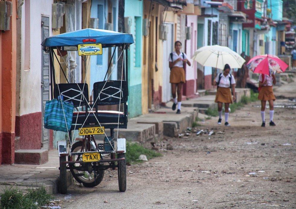 Město Trinidad na Kubě