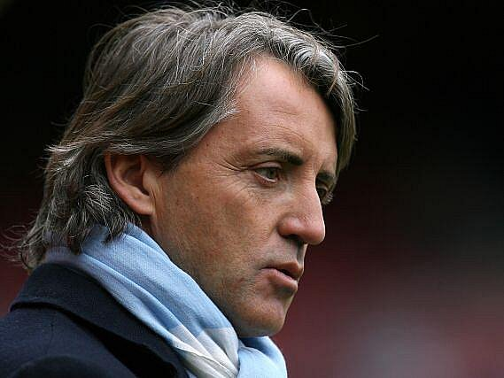 Manažér Manchesteru City Roberto Mancini.