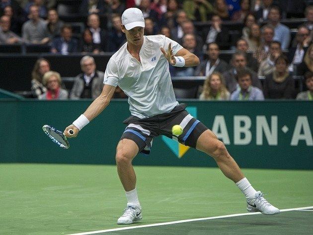 Tomáš Berdych ve finále turnaje v Rotterdamu