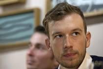 Leopold König na tiskové konferenci k nominaci českých cyklistů, kteří budou startovat na MS v Kataru.