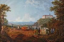 Car vyorává brázdu u Hluboké - obraz Ferdinanda Runka
