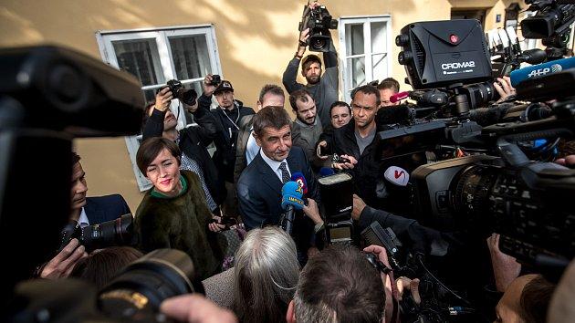 Andrej Babiš volil v parlamentních volbách.