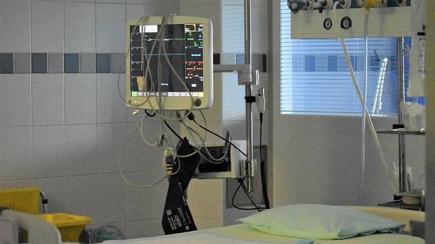 Jedna ze stanic ústecké kliniky anesteziologie, perioperační a intenzivní medicíny