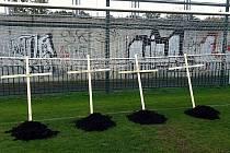 Fanoušci Slavie nesouhlasí s kroky vedení fotbalové Slavie, pro bratry Řebíčkovi, Straku a Platila 'vykopali' pomyslné hroby.