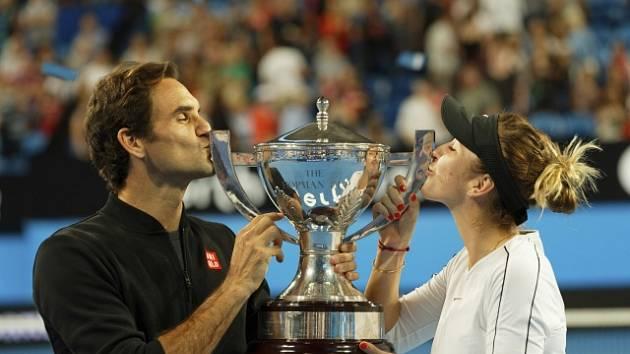 Švýcaři ovládli Hopman Cup. Trofej vybojovali Roger Federer a Belinda Bencicová.