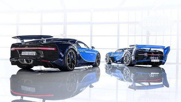 Bugatti Chiron a Bugatti Vision Gran Turismo.