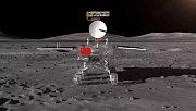 Animace čínské sondy Čchang-e 4 na odvrácené straně měsíce