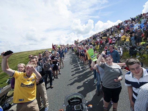 Fanoušci na Tour de France.