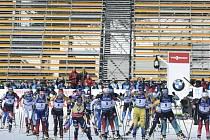 Závody SP v biatlonu: závod s hromadným startem 12,5 km ženy, 8. března 2020 v Novém Městě na Moravě.