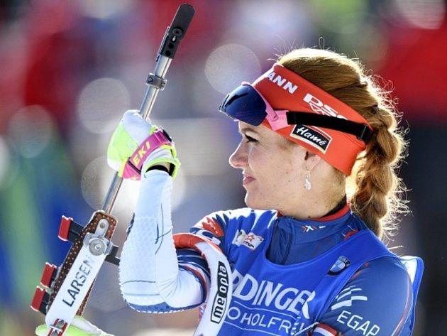 Gabriela Koukalová na mistrovství světa.