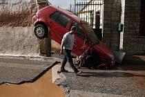 Záplavy poblíž Athén