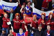 Fanoušky Ruska na šampionátu opravdu nepřehlédnete...