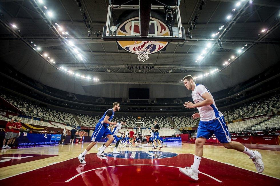 Trénink české basketbalové reprezentace před MS.
