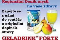 Zapojte se s námi do soutěže o Originální doplněk stravy Geladrink FORTE Stačí jen správně odpovědět na otázku a 5 soutěžících vyhrává.