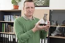 Chovatel poštovních holubů Jaroslav Novotný