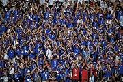 Fanoušci Islandu na MS 2018 v Rusku.