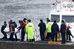 Srážka rybářské lodi s tankerem
