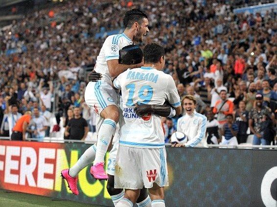Fotbalisté Marseille a jejich radost
