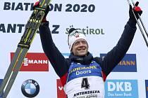 Norský biatlonista Johannes Thingnes Bö vyhrál 23. února 2020 závod s hromadným startem na mistrovství světa v italské Anterselvě