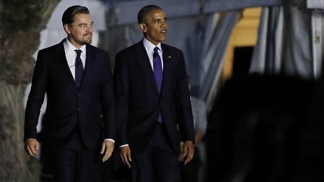 Americký prezident Barack Obama a herec Leonardo DiCaprio spojili své síly v boji proti globálním klimatickým změnám.