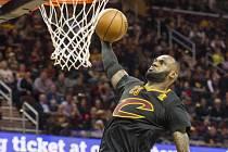 Největší hvězda Clevelandu LeBron James.