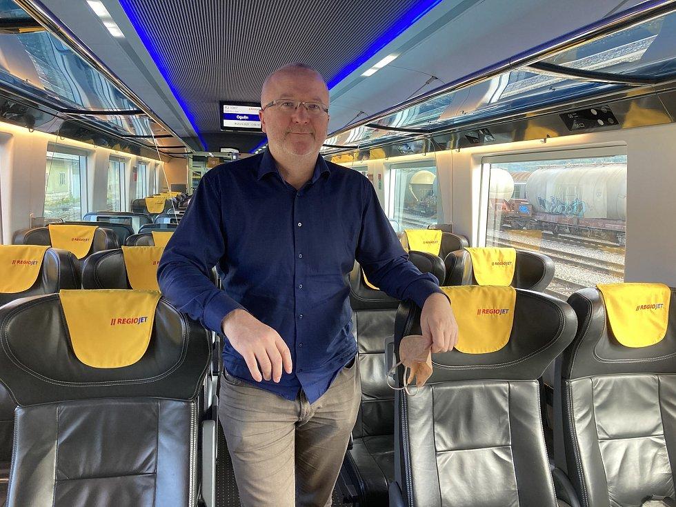 Letošní premiéru vlakové soupravy RegioJetu do Chorvatska si nenechal ujít ani majitel společnosti Radim Jančura.