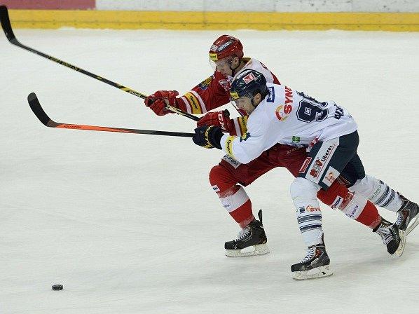 Slavia - Liberec: Ronald Knot a Jaroslav Balaštík