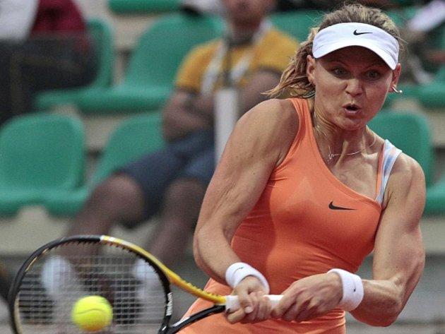 Lucie Šafářová na prestižním turnaji v Římě.