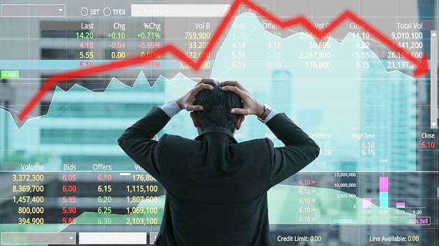 Propad akcií - Ilustrační foto