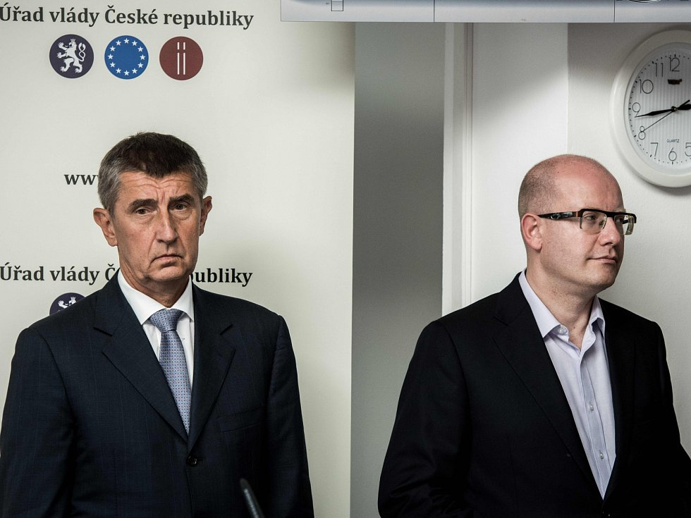 Andrej Babiš (ANO) a Bohuslav Sobotka (ČSSD)