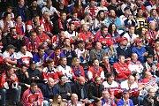 Brno 13.5.2019 - Mistrovství světa v Bratislavě - skupina B - Česko v bílém proti Rusku v červeném