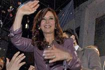 kandidátka na argentinskou prezidentku Cristina Kirchnerová.