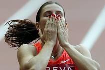 Zuzana Hejnová se raduje z triumfu na Diamantové lize.