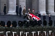 Nácvik na pohřeb Margaret Thatcherové