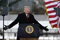 Americký prezident Donald Trump při svém projevu ve Washingtonu 6. ledna 2020