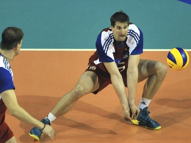 Opora volejbalové reprezentace Jan Štokr.