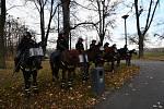 Na koni mají přece jen policisté větší respekt.