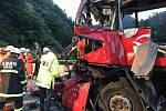 Havárie busu na severozápadě Číny