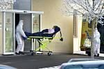 Urgentní příjem nemocnice v Chebu.