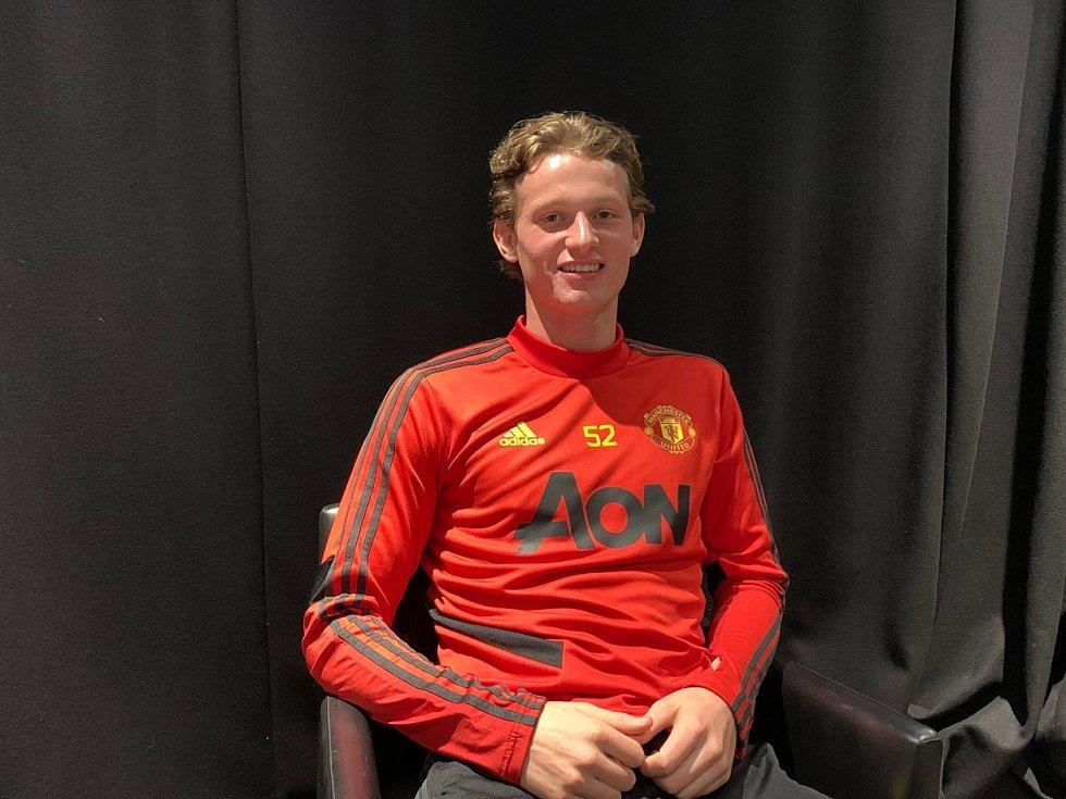 Fotbalista Manchesteru United Max Taylor