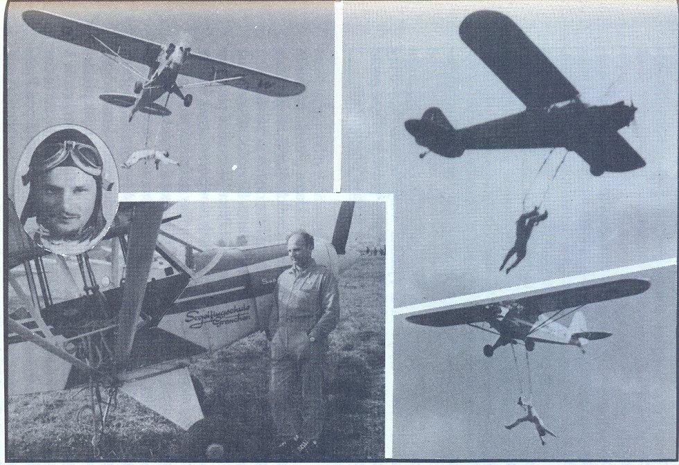 Milo Komínek se věnoval také letecké akrobacii