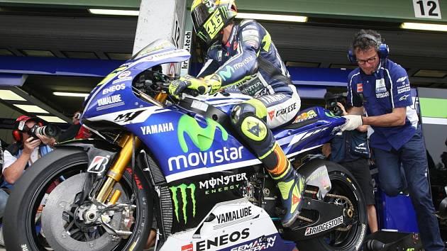 Devítinásobný mistr světa Valentino Rossi.
