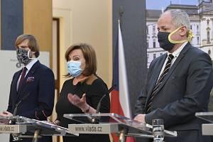 Tisková konference vlády - Ilustrační foto