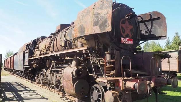 Lokomotiva 556.0304 v Jaroměři.
